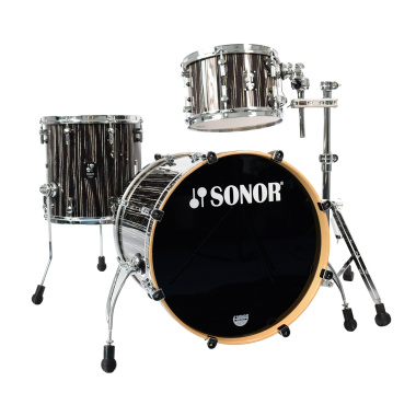 Sonor ProLite 20in 3pc Shell Pack – Ebony White Stripes