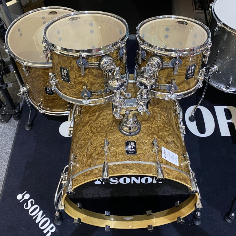 Sonor ProLite 22in 4pc Stage Shell Pack – Chocolate Burl