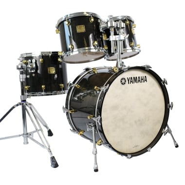 Yamaha Maple Custom 22in 4pc Shell Pack, Black Stain – Pre-owned