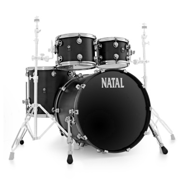 Natal Originals Maple 22in 4pc UFX Shell Pack – Matte Black – WITH FREE CASES!