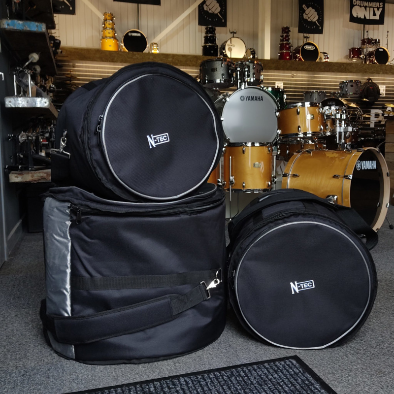 Natal Cafe Racer 18in 3pc Shell Pack, Champagne Sparkle with FREE Cases