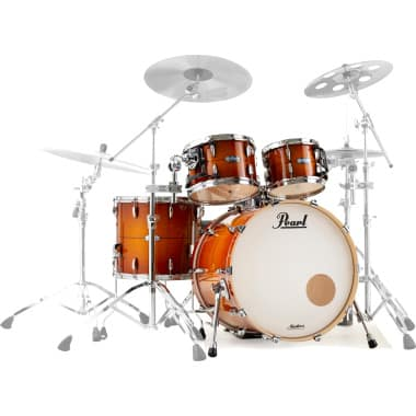 Pearl Masters Maple Complete 4pc Shell Pack – Almond Red Stripe