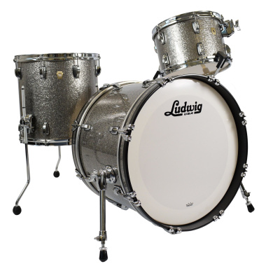Ludwig Classic Maple 20in 3pc Shell Pack – Titanium Glitter – Pre-owned