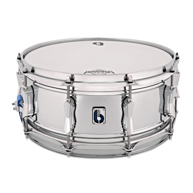 British Drum Co. 'Bluebird' 14x6in Chrome Over Brass Snare Drum