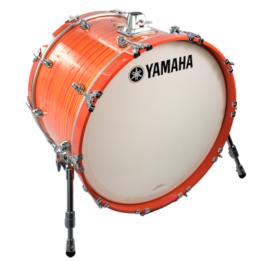 Yamaha Club Custom 22x15in Bass Drum – Orange Swirl