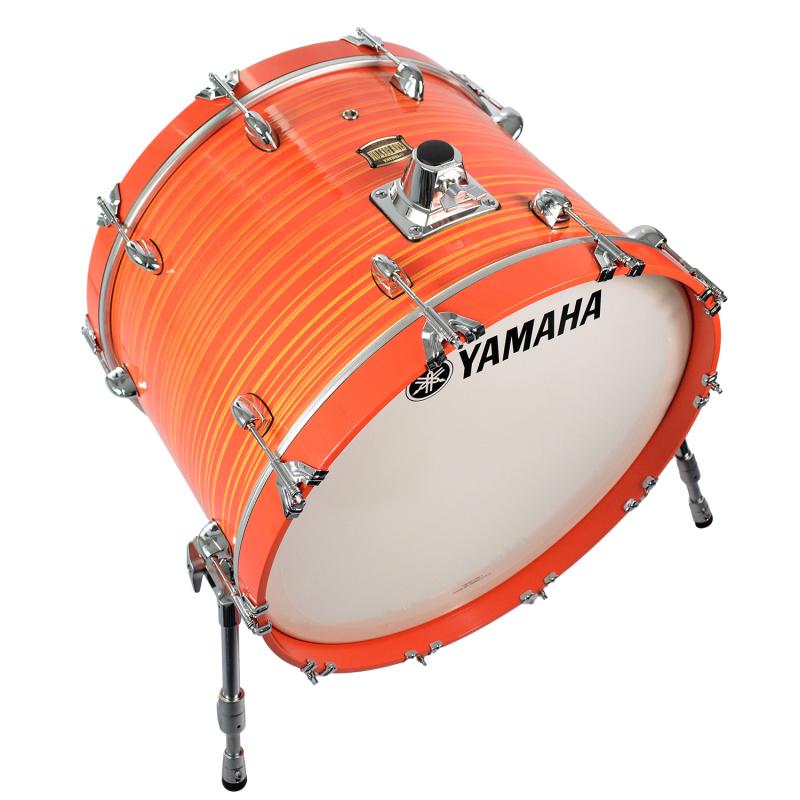 Yamaha Club Custom 22x15in Bass Drum – Orange Swirl