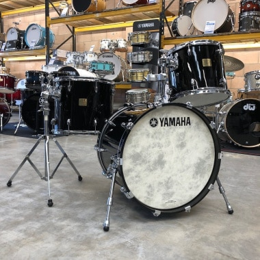 Yamaha Birch Custom Absolute 20in 3pc Shell Pack, Solid Black – Pre-owned