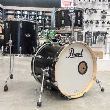 Pearl Vision Bop 3pc Shell Pack – Matte Satin Black Lacquer – Pre-owned