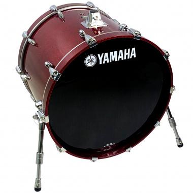 Yamaha Oak Custom 22x17in Bass Drum – Red Sparkle
