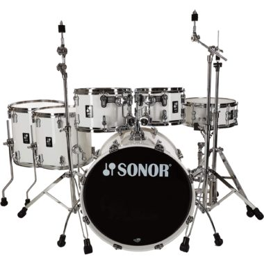Sonor AQ1 Series 6pc Stage Set with Hardware – Piano White