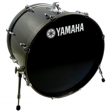 Yamaha Stage Custom 24in Bass Drum – Dark Silver Metallic