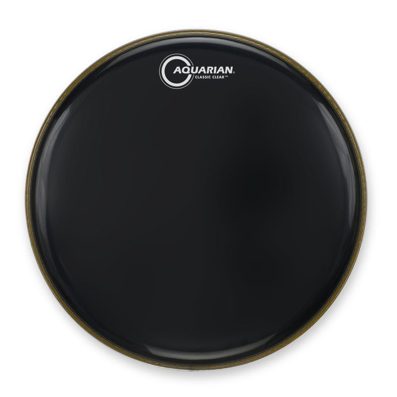 Aquarian Classic Clear Black – 22in Bass Drum Head