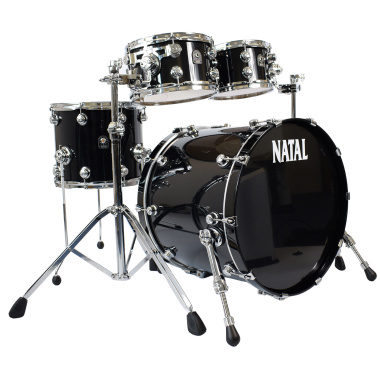 Natal Originals Maple 22in 4pc Shell Pack – Piano Black – Pre-owned