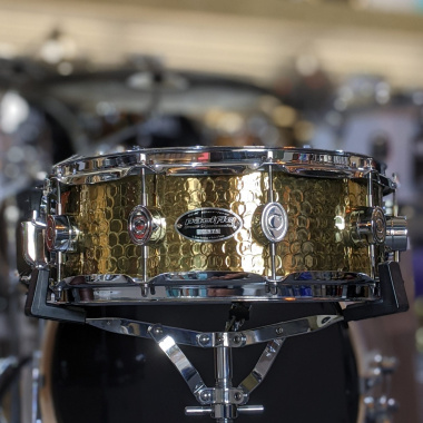PDP By DW SX Series Hammered Brass 14x5in Snare Drum – Pre-owned