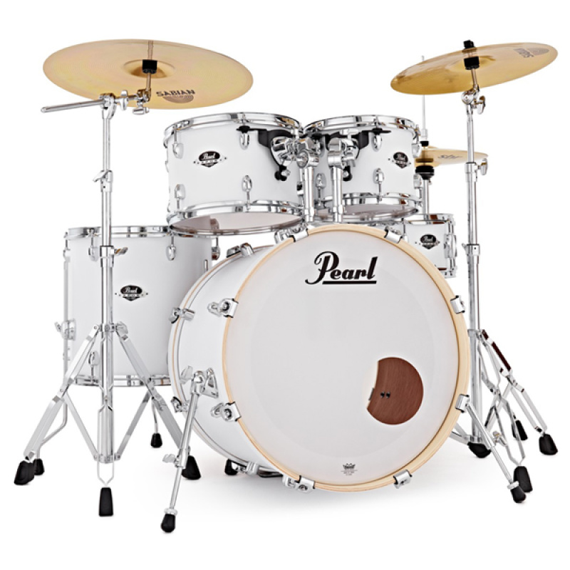 Pearl Export EXX 22in American Fusion Kit w/Sabian SBR Cymbals – Satin White