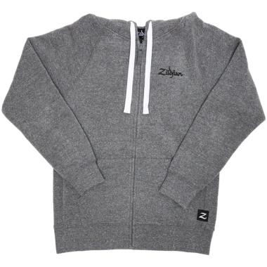 Zildjian Grey Zip Up Logo Hoodie – XXL