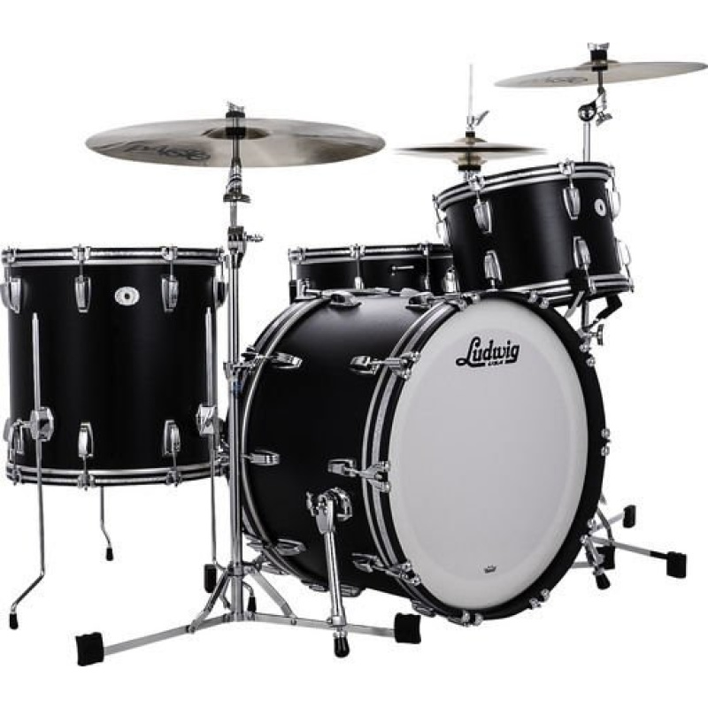 Ludwig Legacy Mahogany Limited Edition Black Cat FAB 3pc Shell Pack