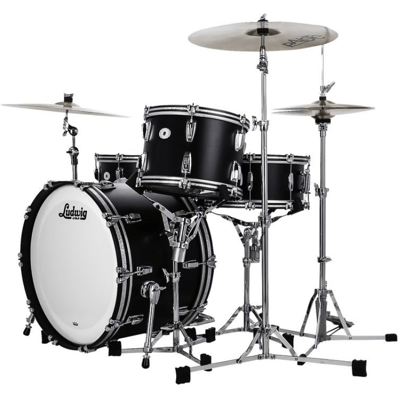 Ludwig Legacy Mahogany Limited Edition Black Cat Pro Beat 3pc Shell Pack