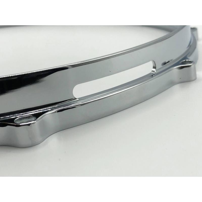WorldMax 14in Die Cast 10 Lug Snare Side Hoop – Chrome