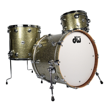 DW Collector's Maple/Mahogany 3pc Shell Pack – Gold Galaxy