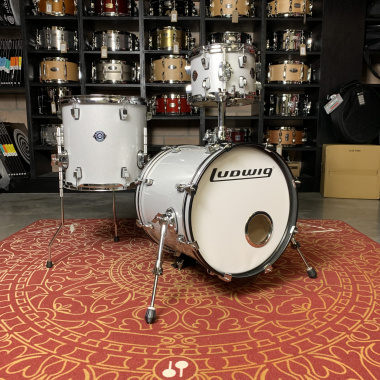 Ludwig Breakbeats 3pc Shell Pack – White Sparkle