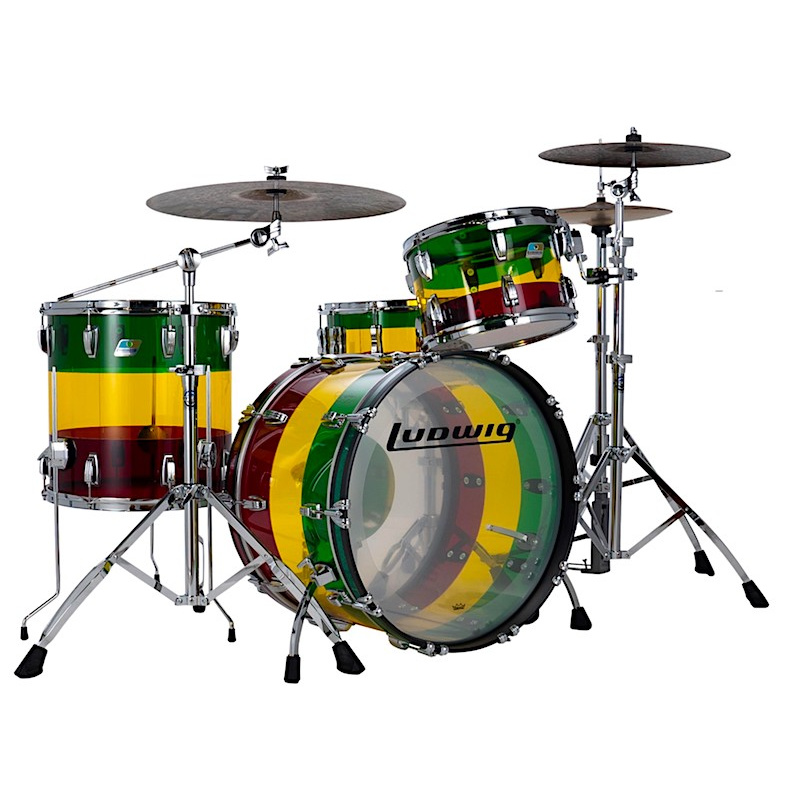 Ludwig Vistalite Limited Edition FAB 22in 3pc Shell Pack – Island Sunset