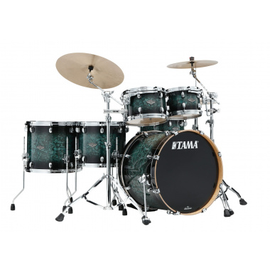 Tama Starclassic Performer 5pc Shell Pack – Molten Steel Blue Burst