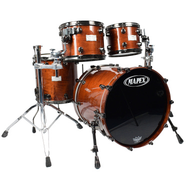 Mapex Saturn III 20in 4pc Shell Pack, Transparent Walnut Glaze – Pre-owned