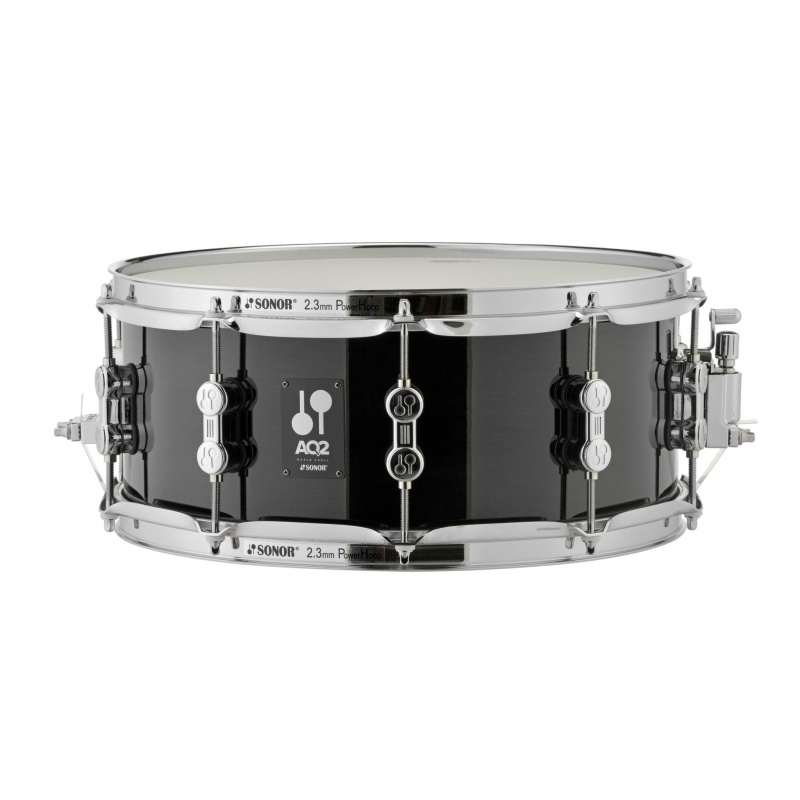 Sonor AQ2 14x6in Maple Snare Drum – Transparent Stain Black