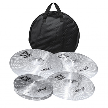 Stagg SXM Low Volume Cymbal Set with Bag