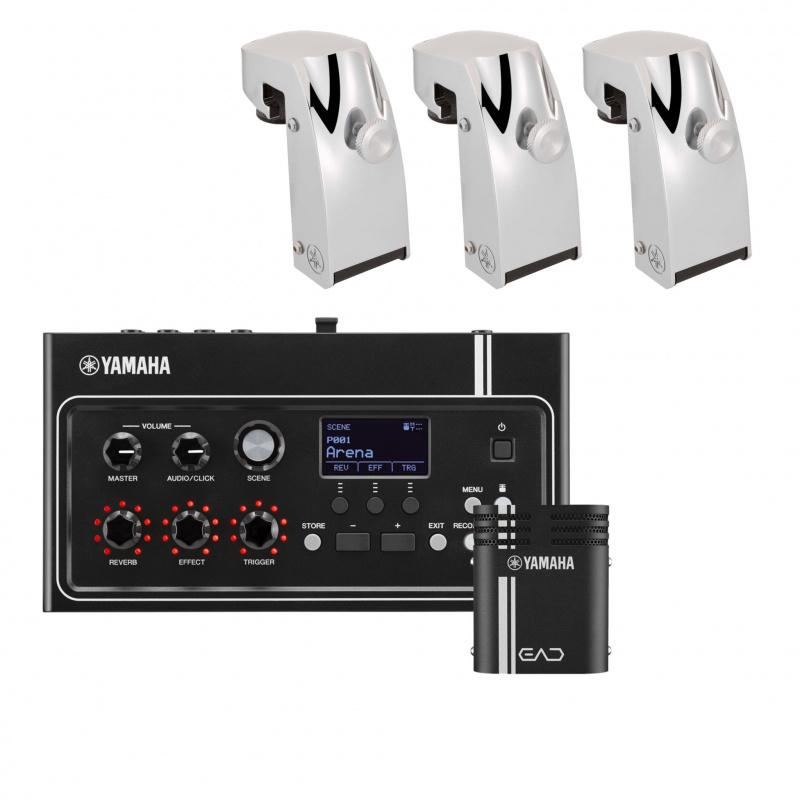 Yamaha EAD10 Electronic Acoustic Drum System – 3 Trigger Bundle