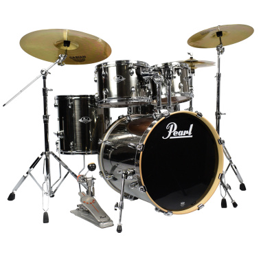 Pearl Export EXX 5pc 20in Fusion Kit w/Sabian SBR Cymbals, Smokey Chrome – Pre-owned