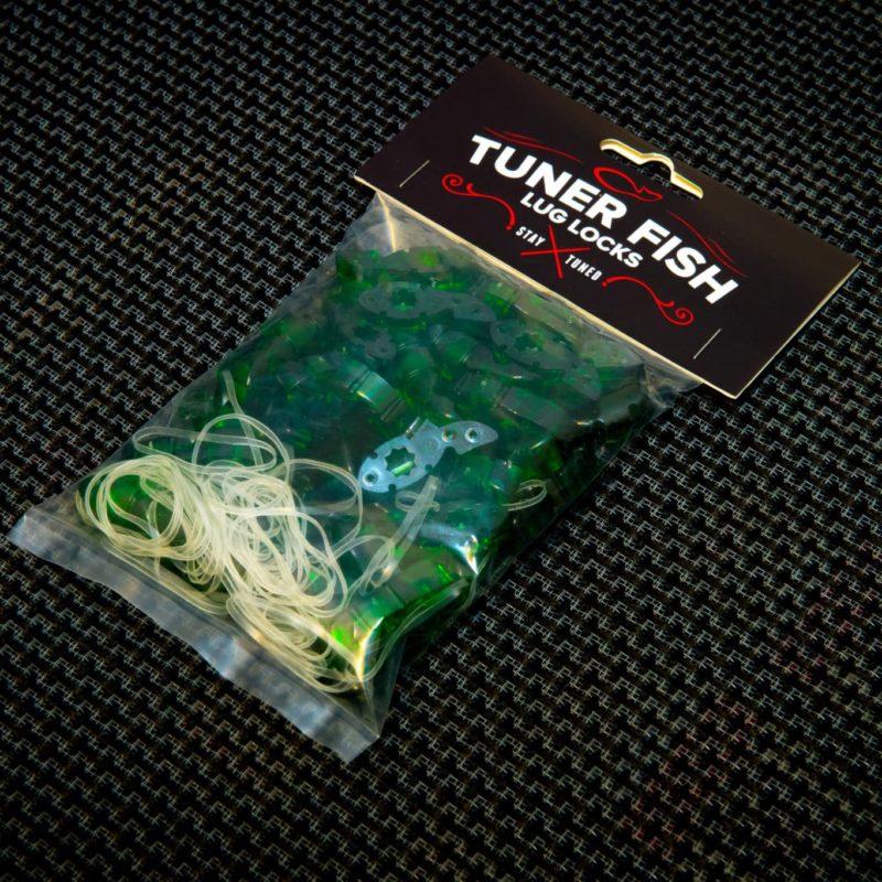 Tuner Fish Lug Locks Green 50 Pack