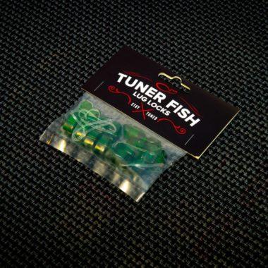 Tuner Fish Lug Locks Green 8 Pack