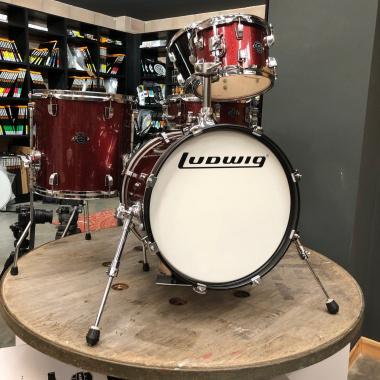 Ludwig Questlove Breakbeats 4pc Shell Pack, Red Sparkle – Pre-owned