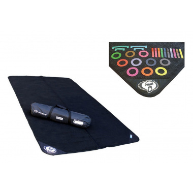 Protection Racket 2×1.6m Folding Drum Mat with FREE Mat Markers