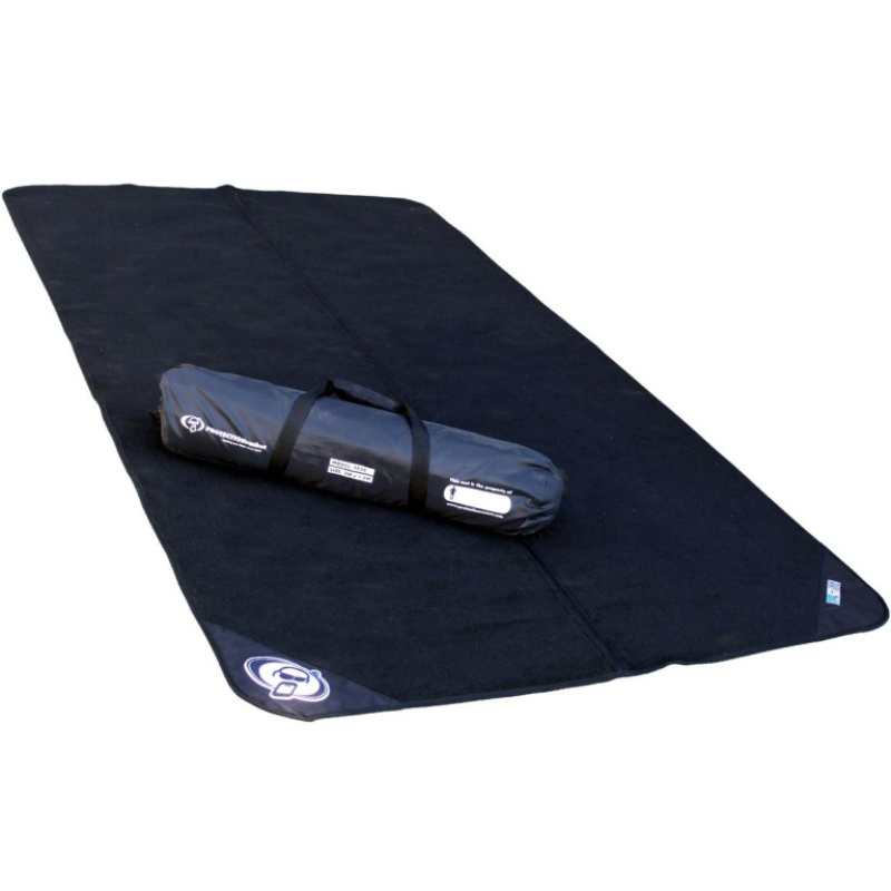 Protection Racket 2×1.6m Folding Drum Mat w/Bag & Mat Markers Bundle