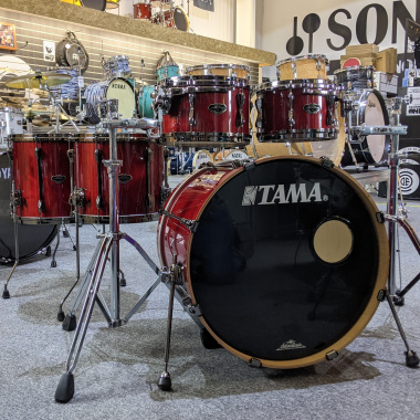 Tama Superstar Maple Hyper-Drive 22in 5pc Shell Pack, Classic Cherry Wine – Pre-owned