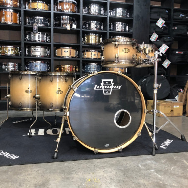 Ludwig Epic Series 5pc Shell Pack, Natural Black Burst – Pre-owned
