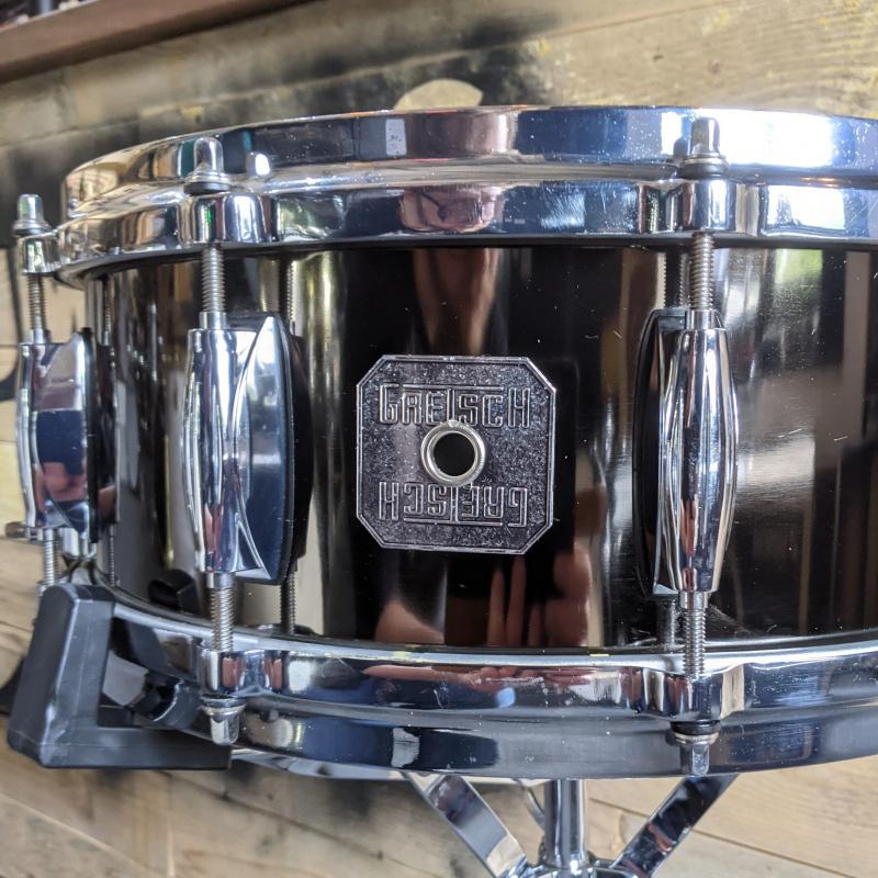 Gretsch 14×5.5in Black Nickel Over Steel Snare- Pre-owned