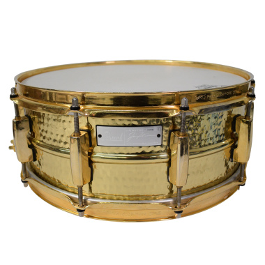 Pearl Jimmy DeGrasso Signature 14×5.5in Hammered Brass Snare – Pre-owned