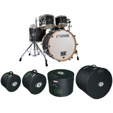 Sonor SQ2 22in 4pc Shell Pack with FREE Protection Racket AAA Cases