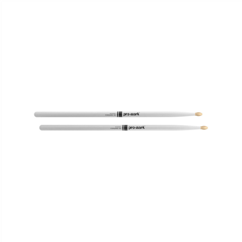 ProMark Classic Forward 5A White Painted Hickory Drumsticks TX5AW-WHITE – Wood Tip