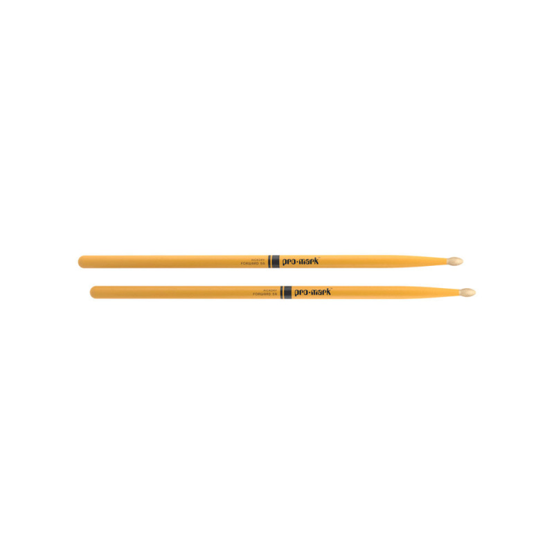 ProMark Classic Forward 5A Yellow Painted Hickory Drumsticks TX5AW-YELLOW – Wood Tip