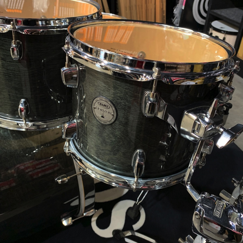 Mapex Horizon HZB Lacquer Series 22in 6pc Shell Pack, Transparent Black – Pre-owned