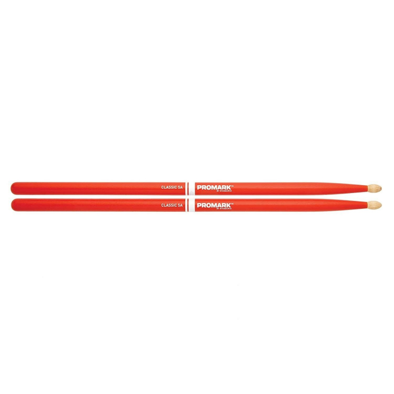 Promark Painted Classic Hickory 5A Orange – Wood Tip