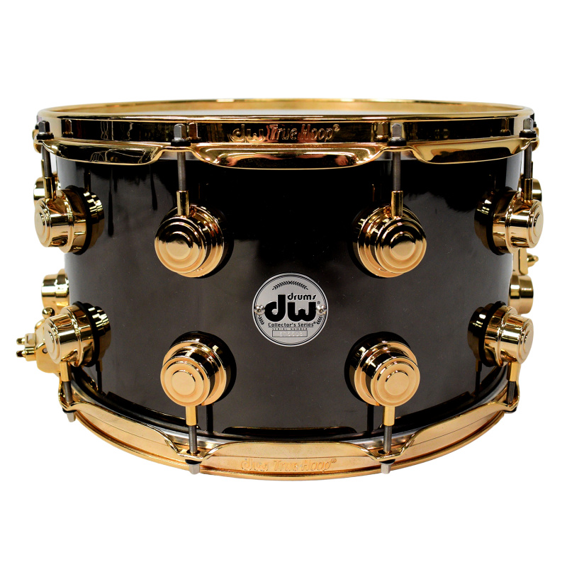 DW Collector's 14x8in Black Nickel Brass with Gold Hardware Snare – Pre-owned