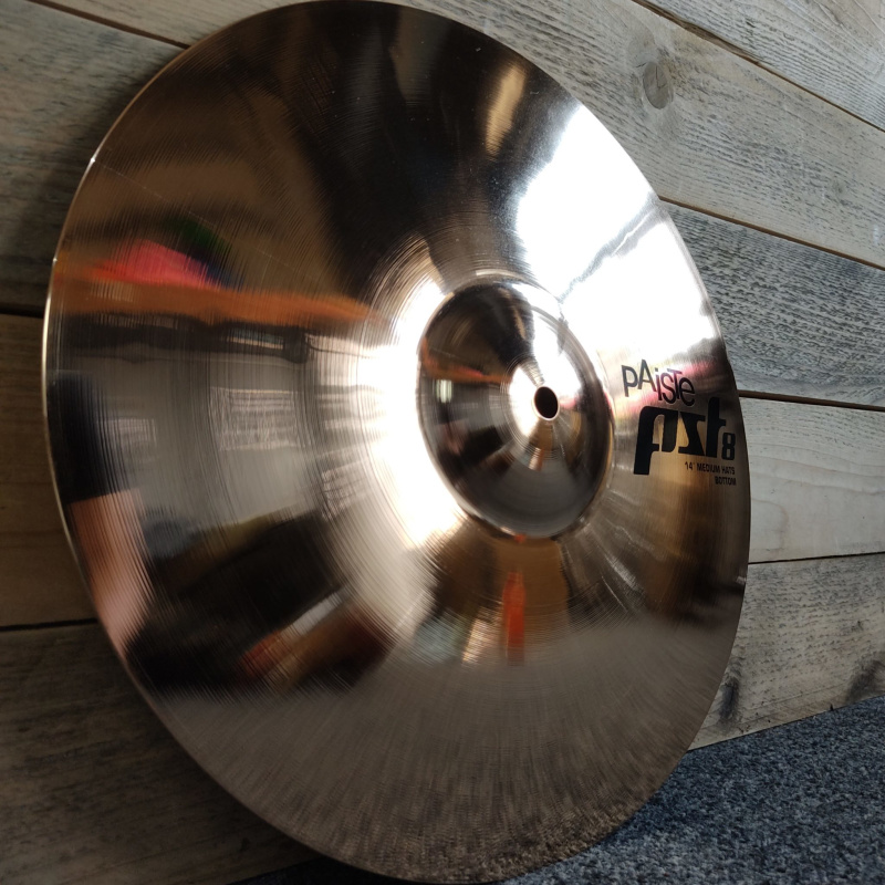 Paiste PST 8 14in Medium Hi-hat Cymbals – Pre-owned