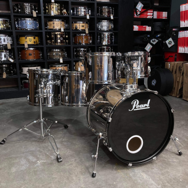 Pearl Export 22in 5pc Shell Pack – Mirror Chrome – Pre-owned