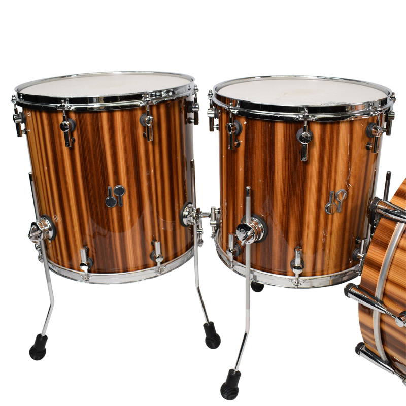 Sonor SQ2 4pc Shell Pack, Smoked Larch High Gloss Veneer